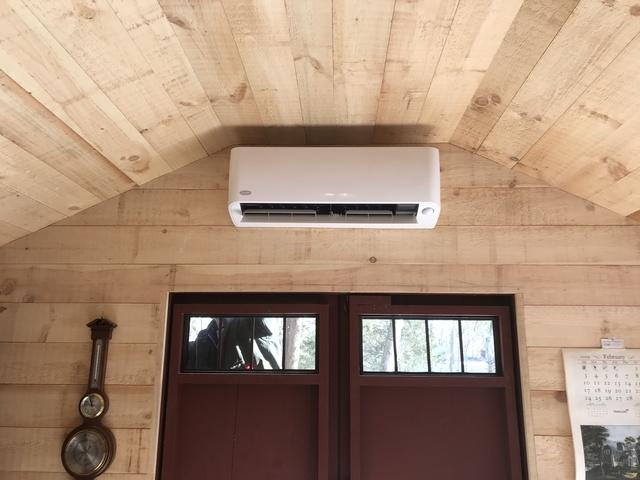 Carrier ductless head installation in Guilford, CT