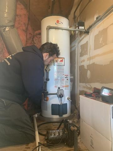 Installation of a 40 Gallon Gas hot water heater in New Haven, CT!