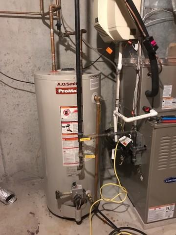 Gas hot water installation completed in Branford, CT!