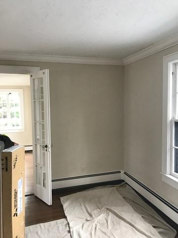 Mitsubishi ductless job done in Greenwich, CT - Before Photo
