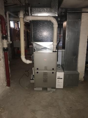 Gas furnace installation for a long time customer in New Haven, CT!