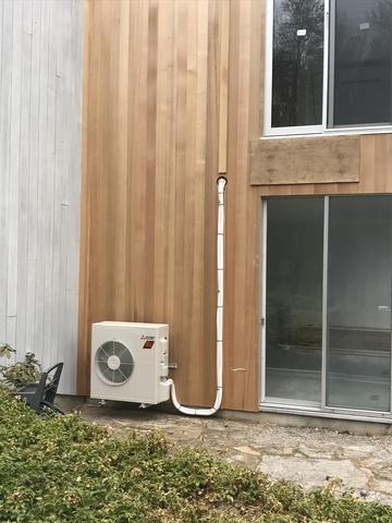 Mitsubishi ductless hyper heat installation in Woodbridge, CT!
