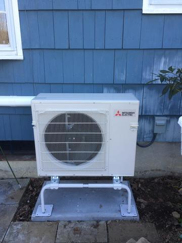Mitsubishi Ductless Installation in Trumbull, CT - Before Photo