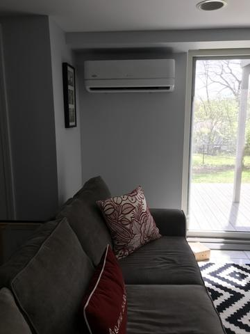 Carrier ductless installation done in Cos Cob, CT!