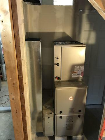 Another fantastic furnace installation done for our customer in West Haven!