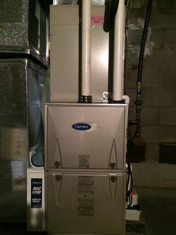 Gas furnace replacement for our customer in East Haven, CT!