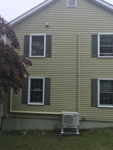 Daikin ductless condenser installation for our customer in Oxford, CT!