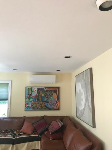 Mitsubishi ductless installation done for our customer in Hamden, CT!