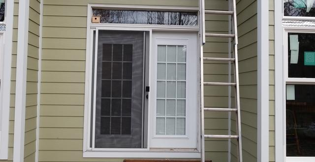 Install French door and French storm door Leawood, KS - Before Photo