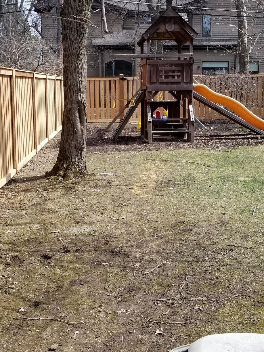Spaced Traditional Cedar Fence in Deerfield, IL - After Photo