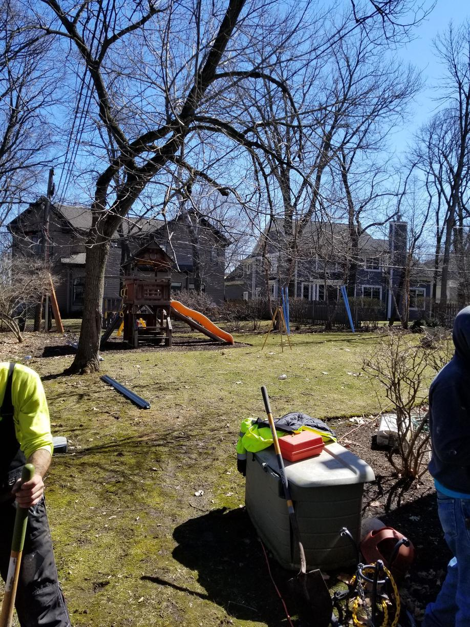 Spaced Traditional Cedar Fence in Deerfield, IL - Before Photo