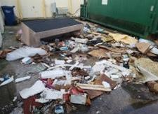 Dumpster Area Cleanup in Bradenton, FL - Before Photo