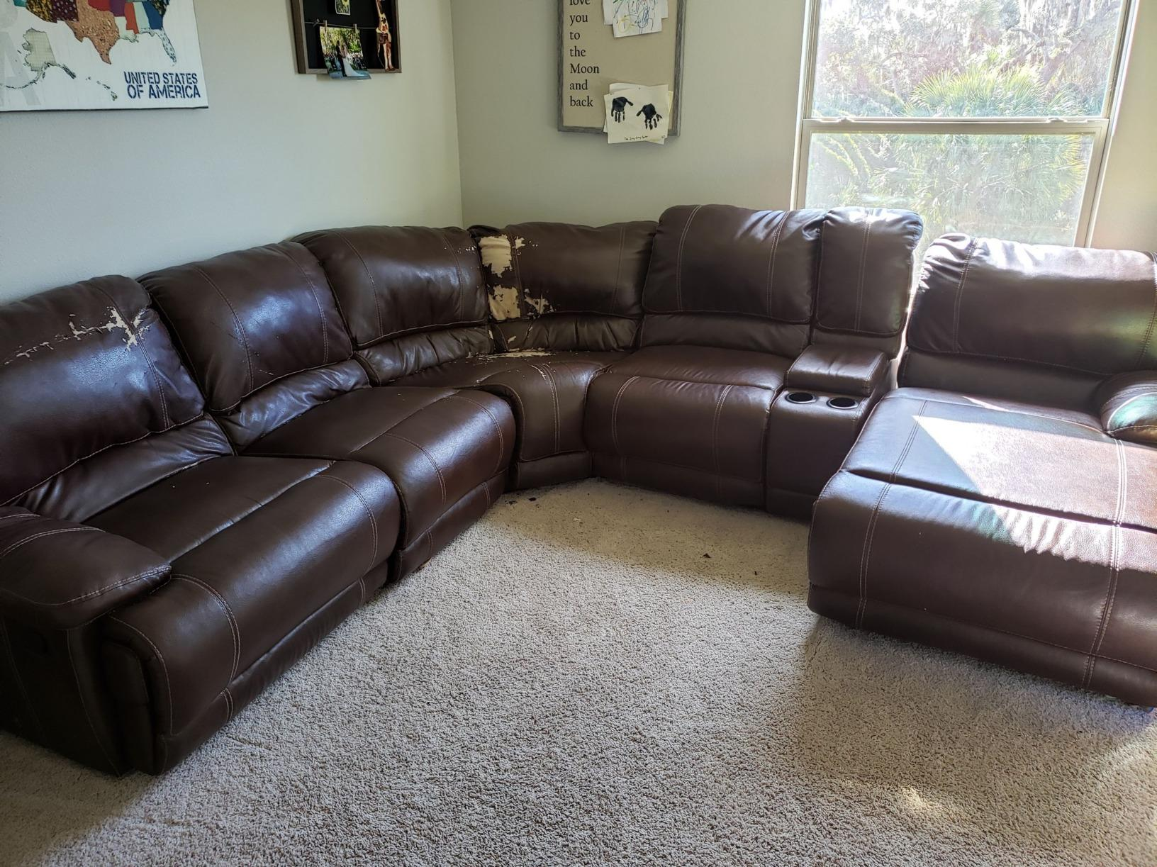 Couch Removal in Parrish, FL - Before Photo