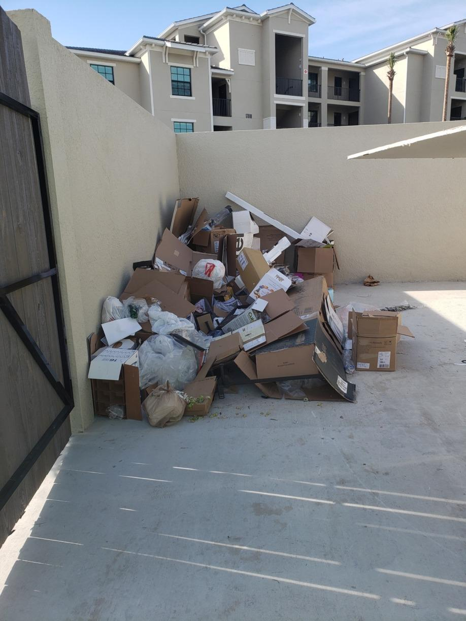 Dumpster Cleanout in Lakewood Ranch, FL - Before Photo