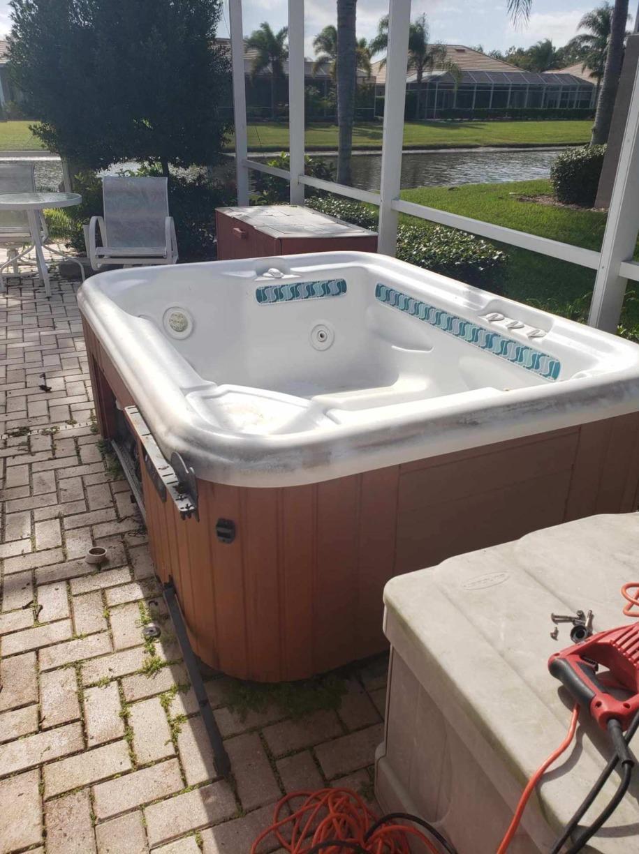 Hot Tub Removal in Bradenton, FL - Before Photo