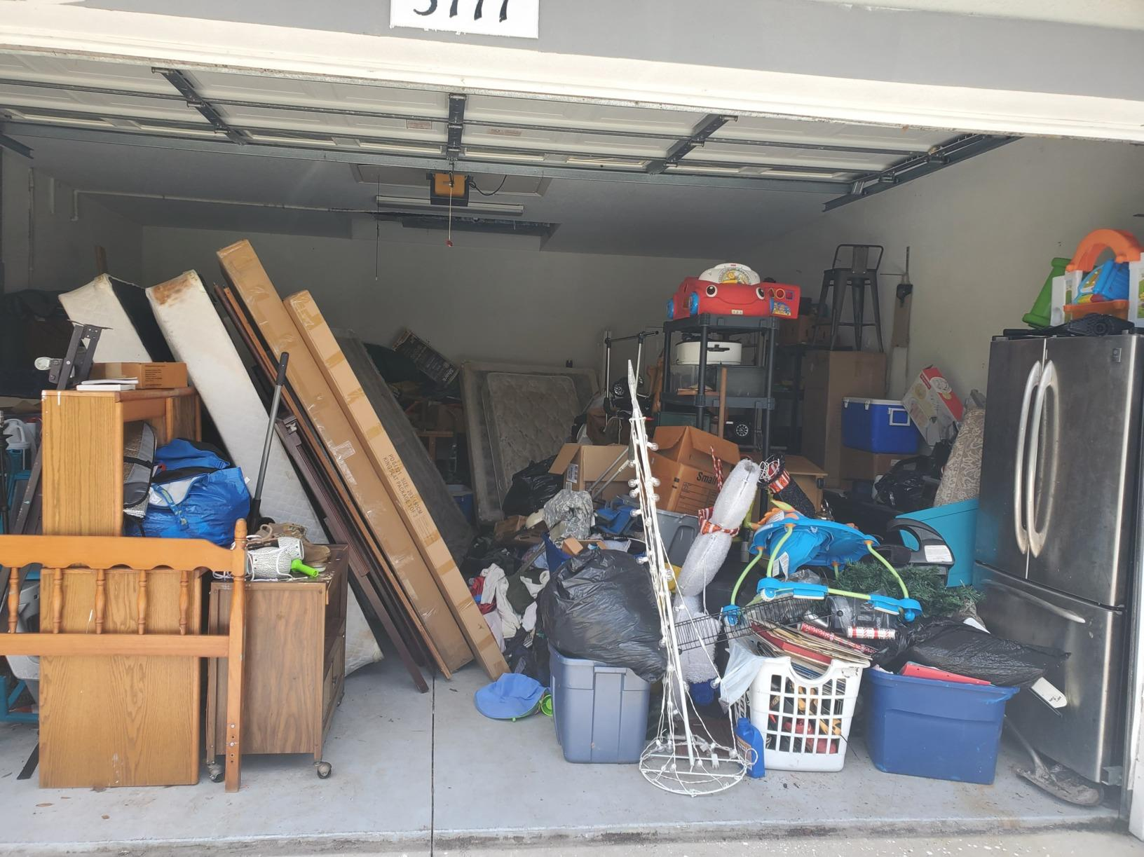 Garage clean out Parrish, FL - Before Photo