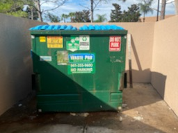 Dumpster Corral Cleanup at Property - After Photo