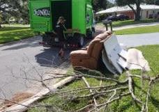 Curbside Junk Removal in Bradenton, FL - Before Photo