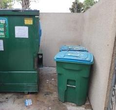 Dumpster area clean-up in Sarasota, FL