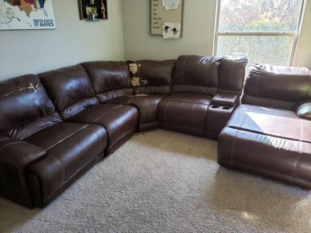 Sectional couch removal Parrish FL