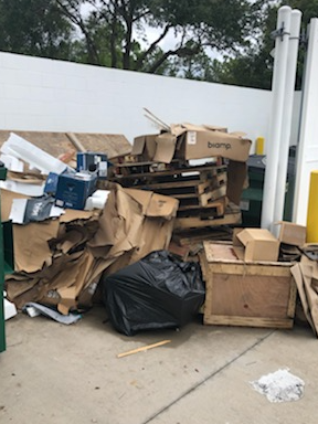 Office Move Dumpster Cleanup