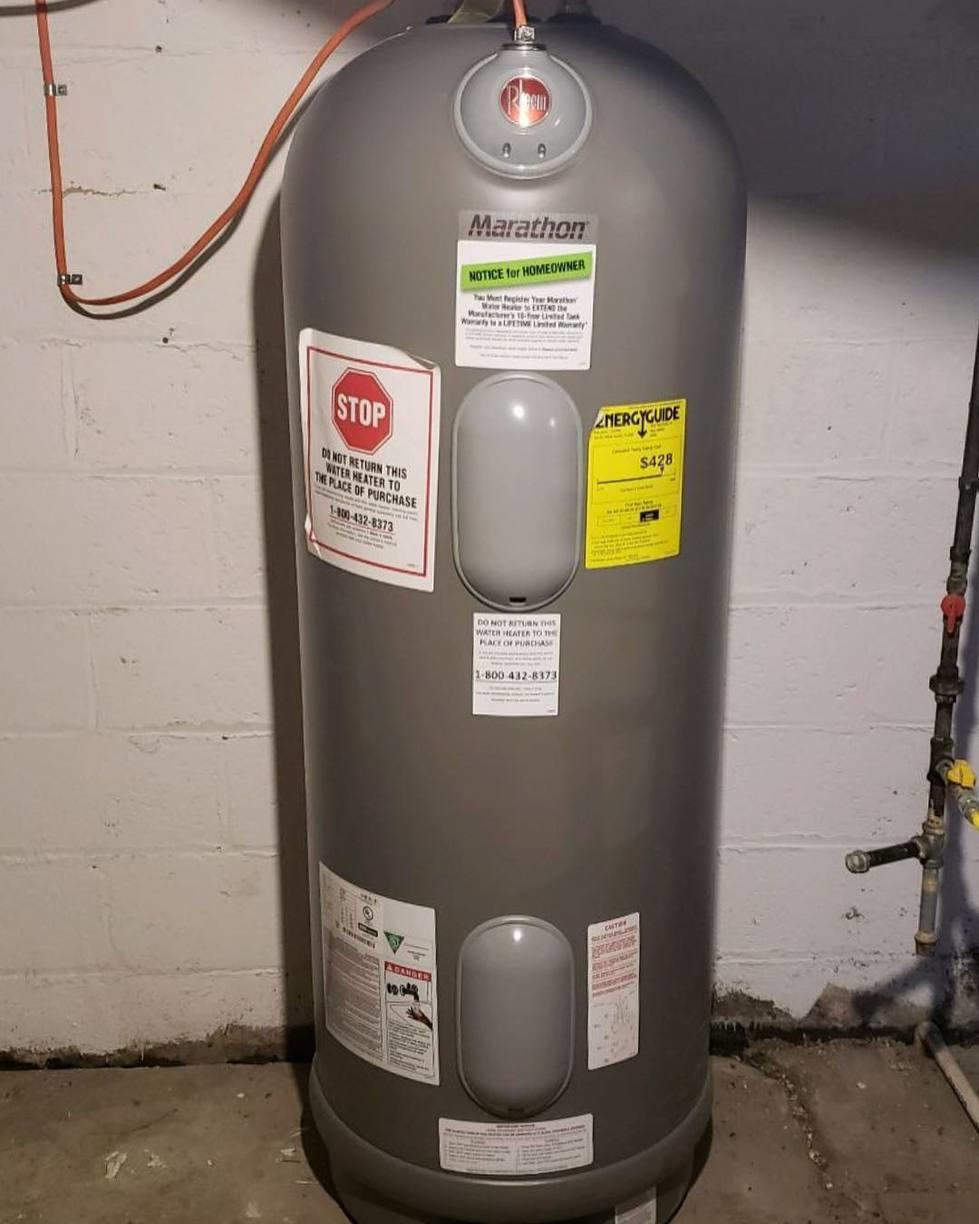 Gas to electric water heater conversions in Troy, NY - After Photo