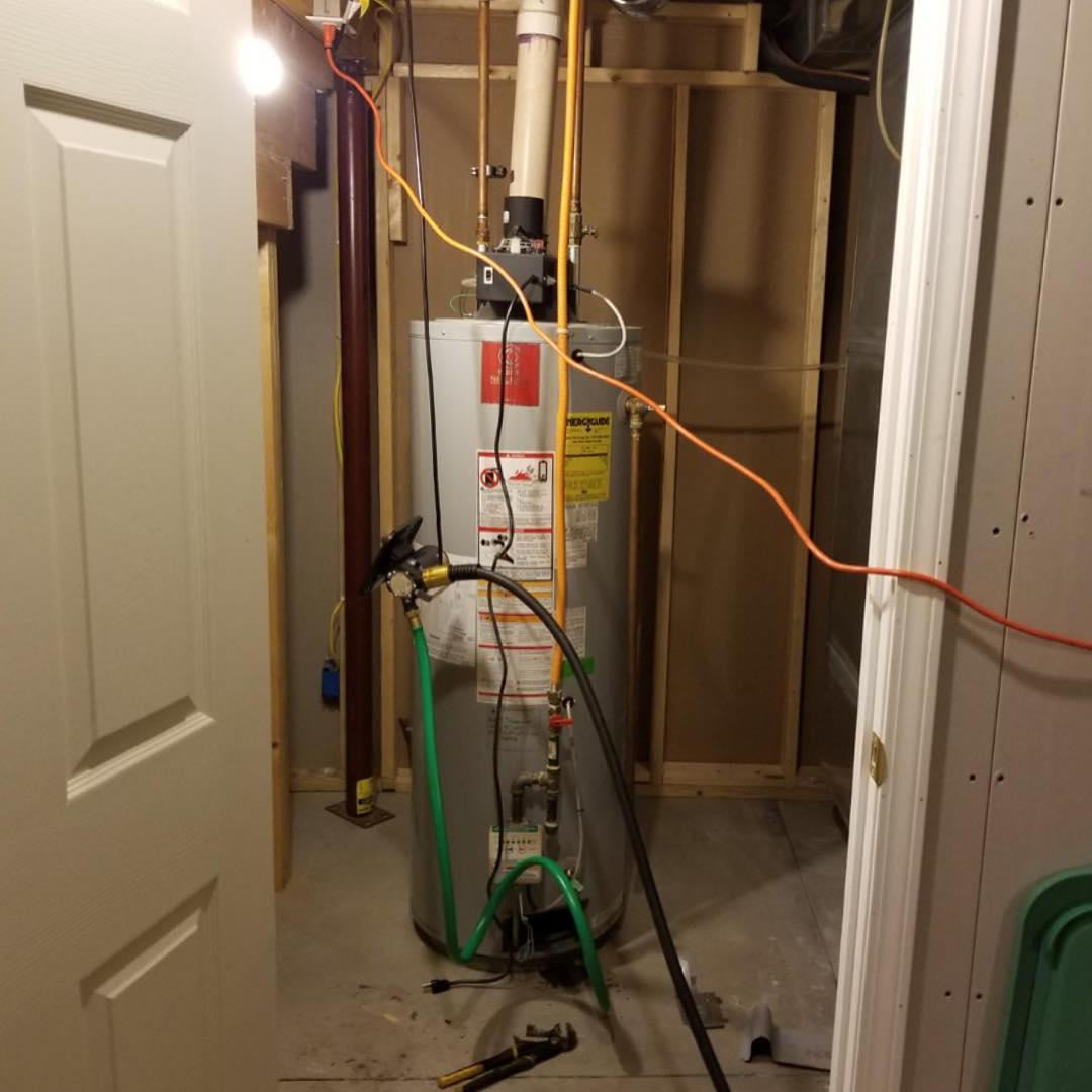 Water Heater Installation in Ganesvoort, NY - Before Photo