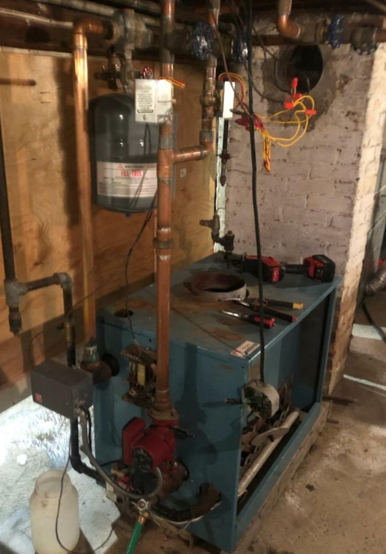 Combi boiler - Before Photo
