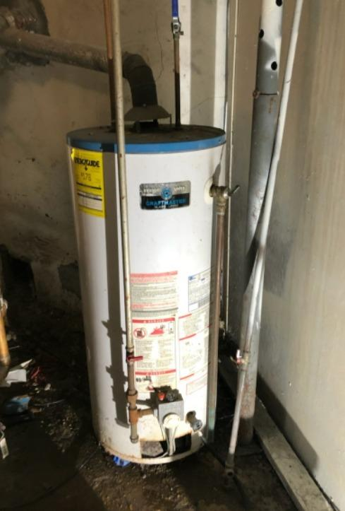 Water heater replacement in East Greenbush, New York - Before Photo