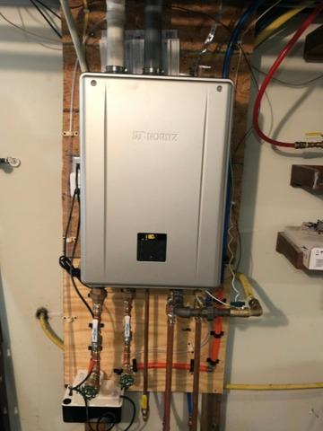 Noritz thankless water heater - After Photo