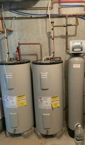 Rheem marathon water heater install in Schenectady - Before Photo