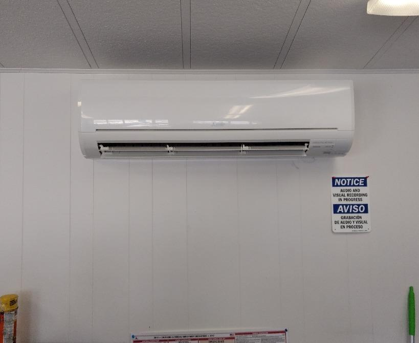 Installed a 24,000 Btu Mitsubishi Cool only Mini Split in Hemet, CA - After Photo