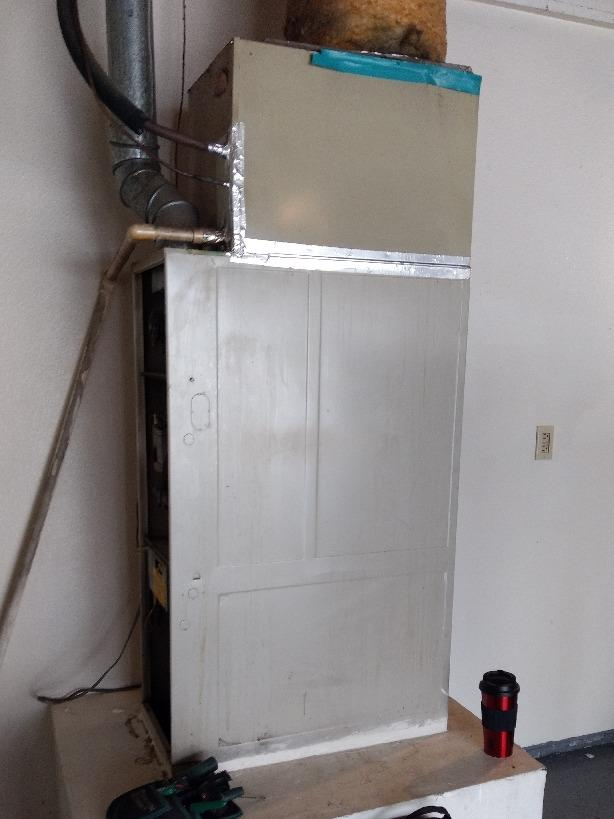 Install/Replacement 2 ton furnace and coil Hemet, Ca - Before Photo