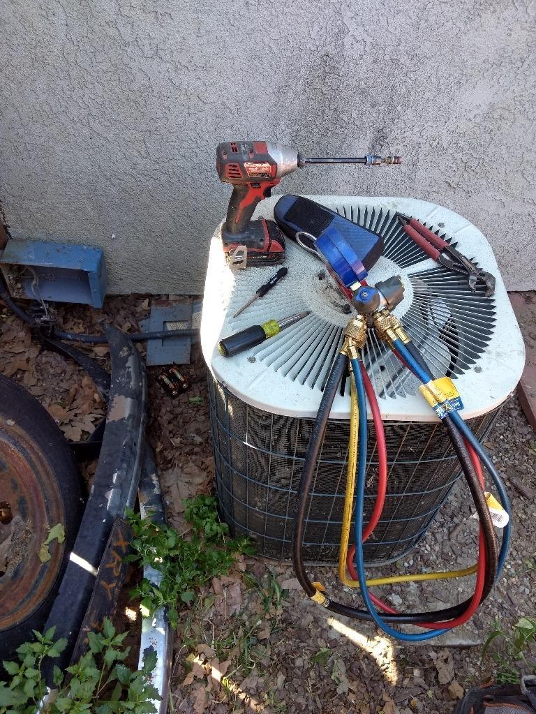 A/C Condenser Installation Hemet, Ca - Before Photo