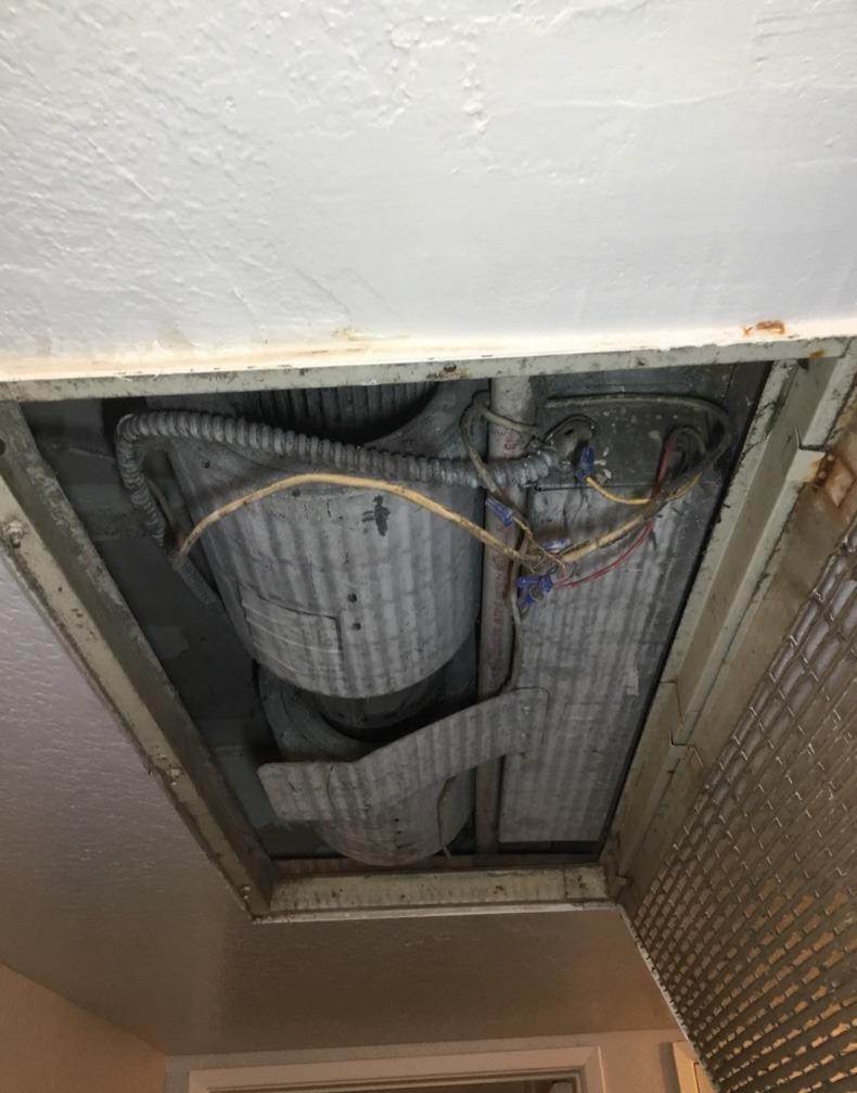 New Air Handler Installation Mentone, CA - Before Photo