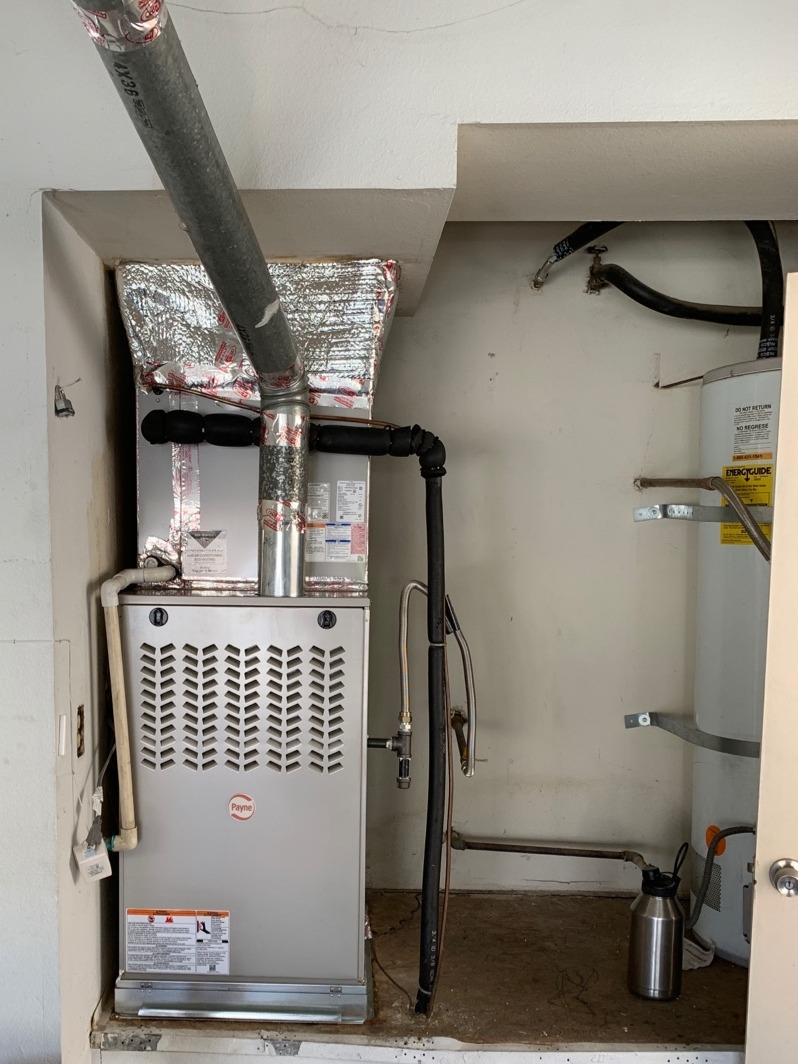 Furnace and coil installation Mentone, Ca - After Photo