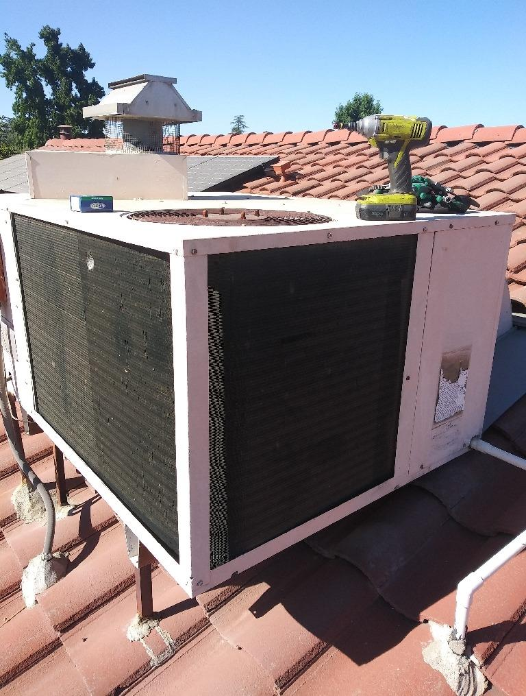 Package Unit Installation Beaumont, CA - Before Photo