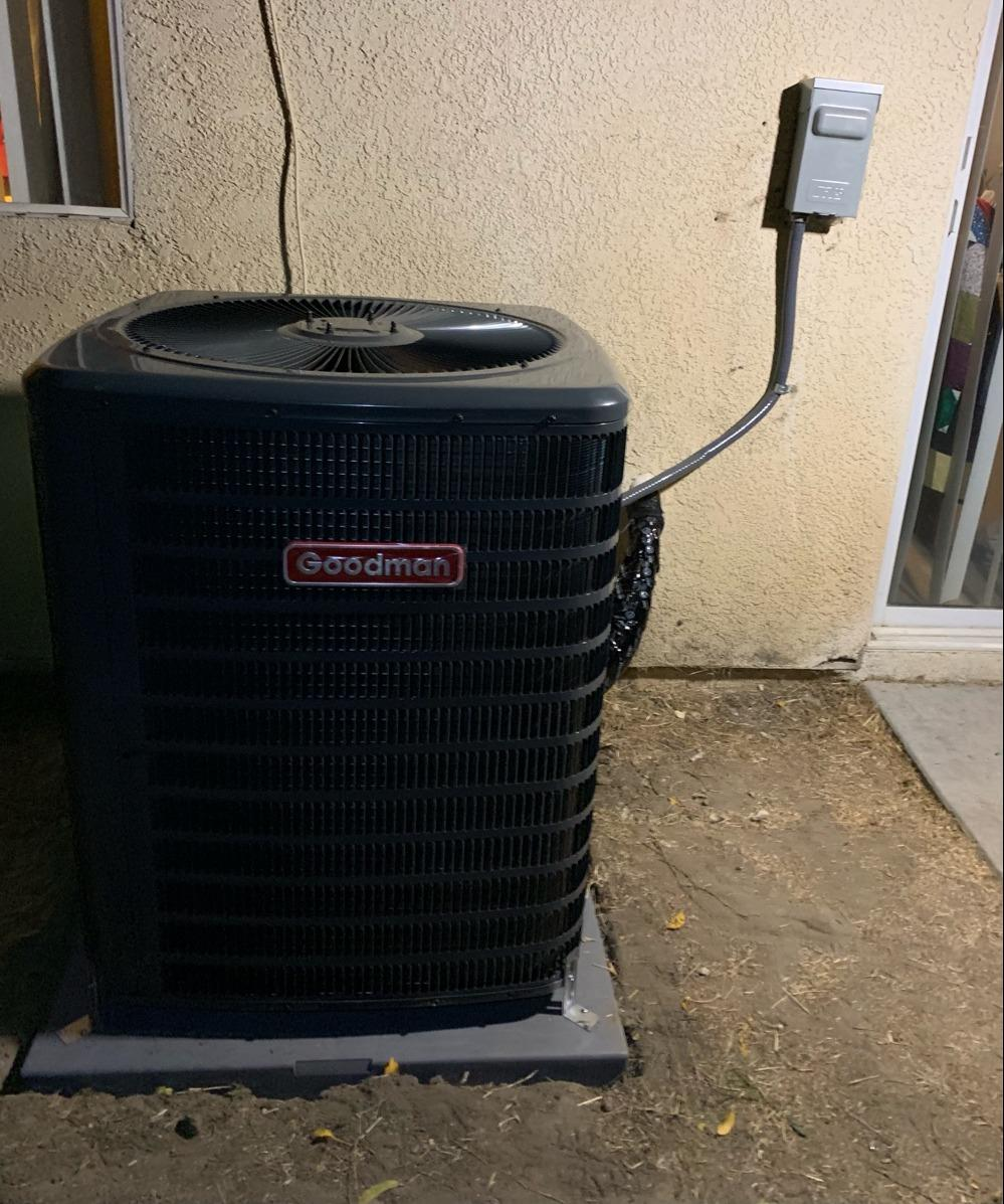 A/C Condenser replacement San Jacinto, CA - After Photo