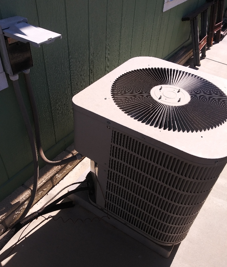 Air Conditioning Replacement Calimesa, Ca - Before Photo