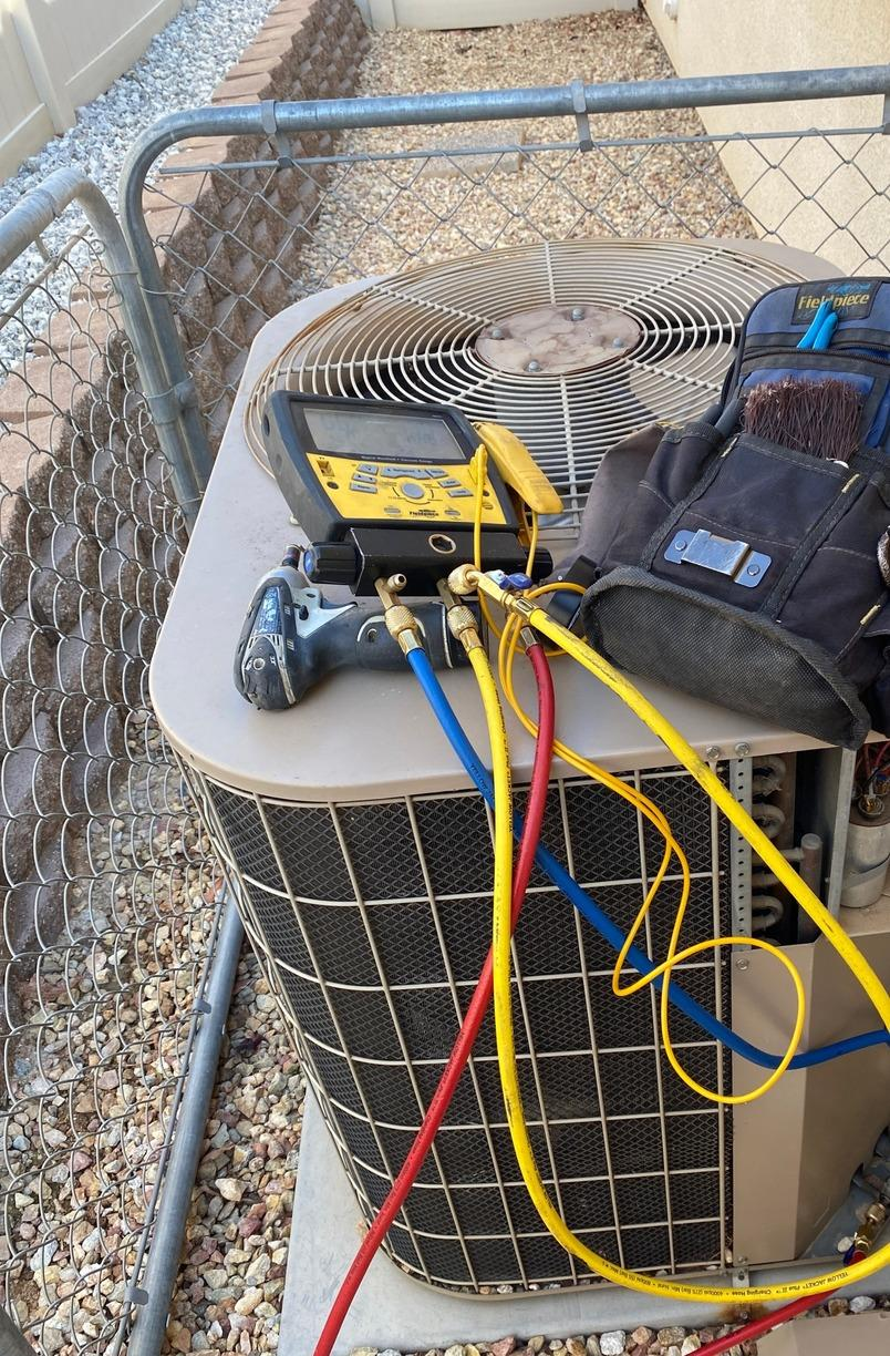 Condenser replacement in Beaumont CA - Before Photo