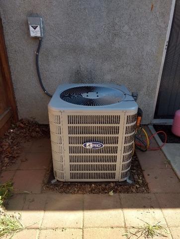 A/C Condenser Installation Hemet, Ca - After Photo