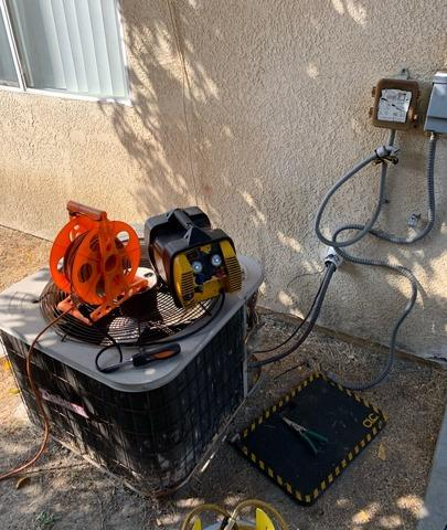 A/C Condenser replacement San Jacinto, CA - Before Photo