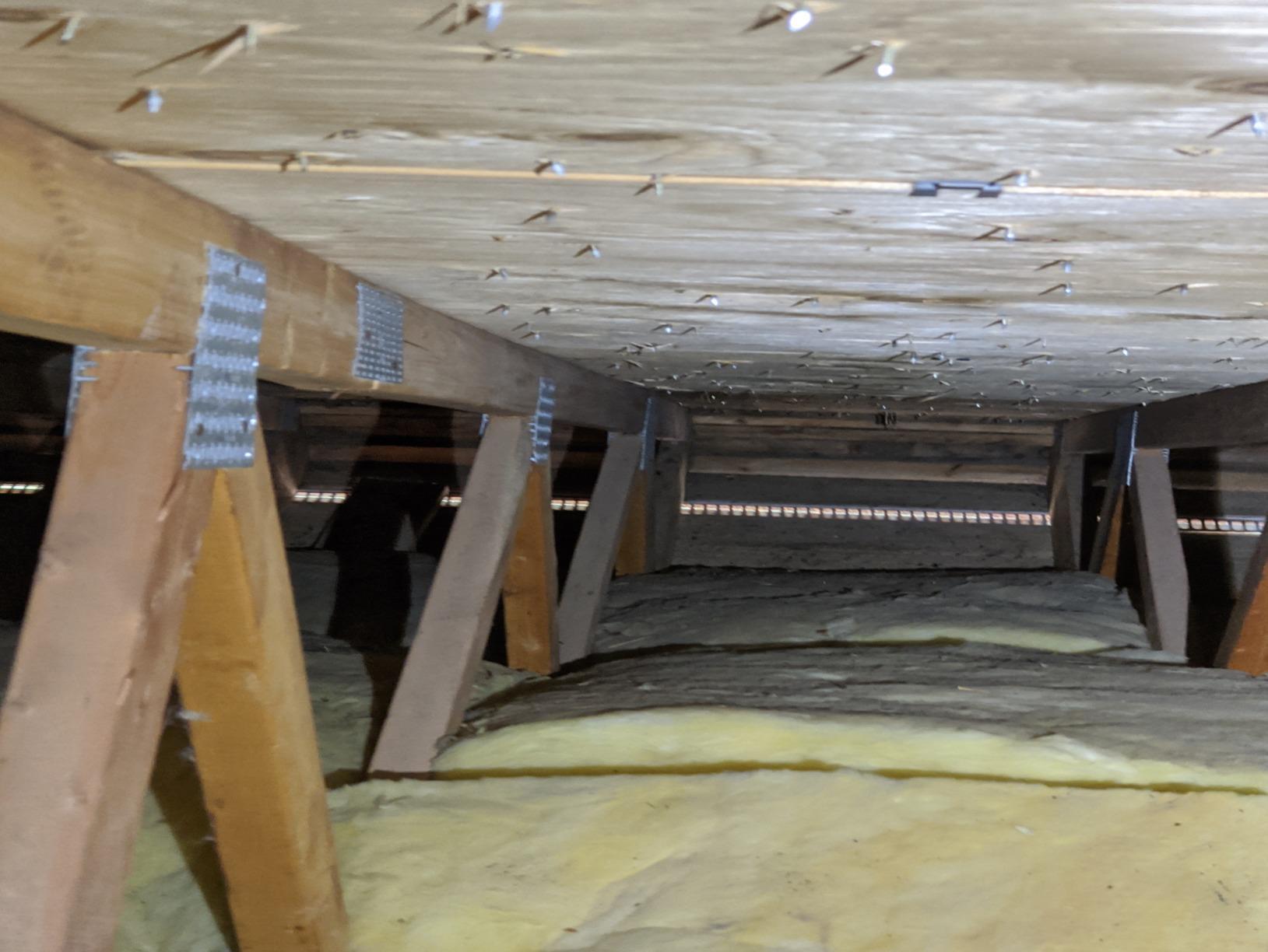 Attic Insulation Atlanta, IL - Before Photo