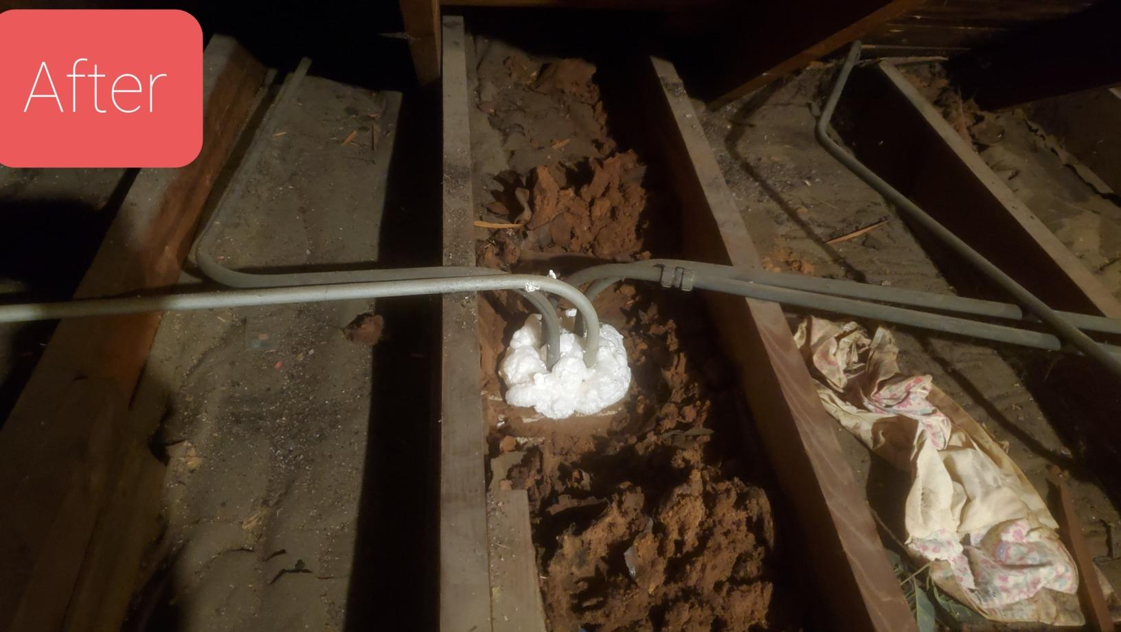 Attic Air Sealing Peoria, IL - After Photo