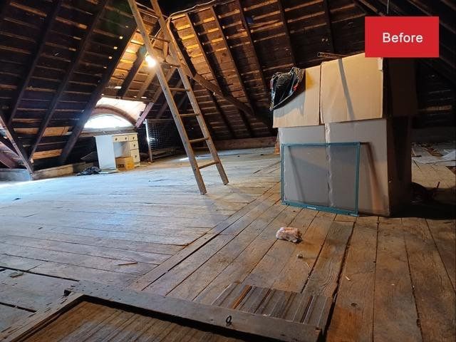 Attic Insulation in Peoria, IL (before and after) - Before Photo