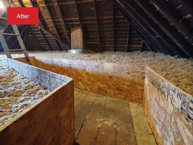 Attic Insulation in Peoria, IL (before and after) - After Photo
