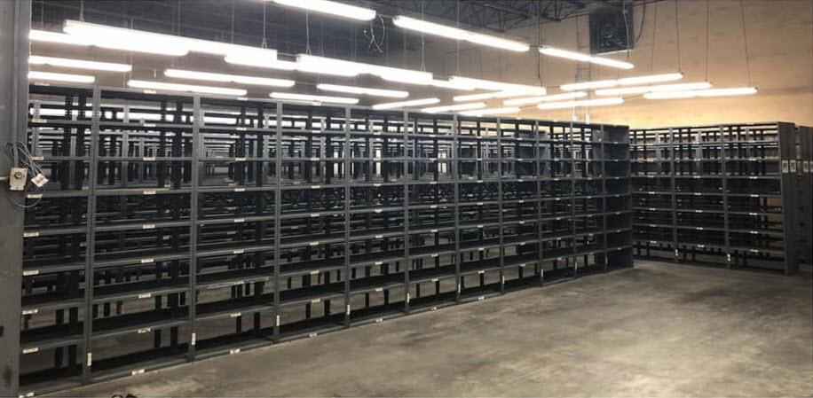 Warehouse Shelving Removal in Charlotte, NC - Before Photo