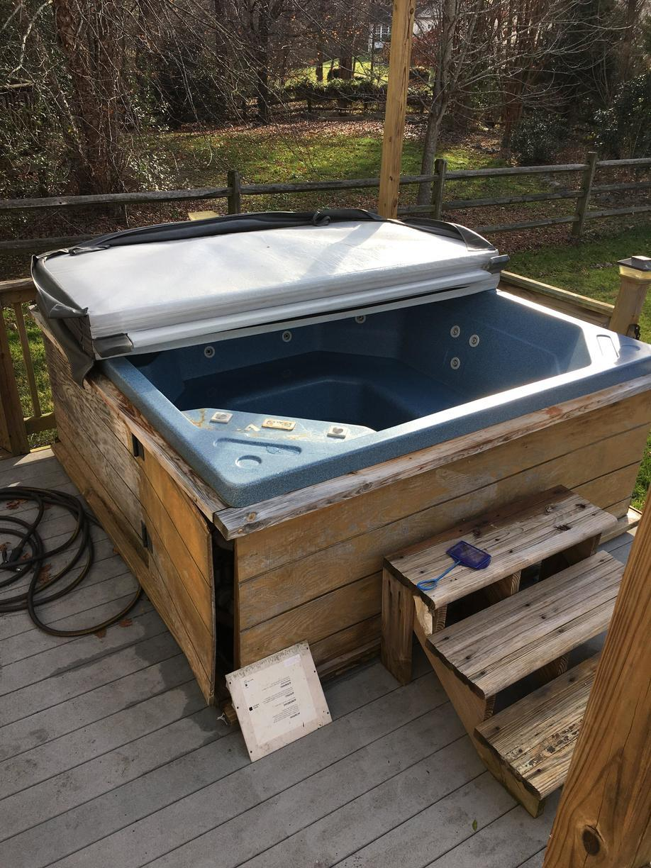 Hot Tub Removal in Huntersville, NC - Before Photo