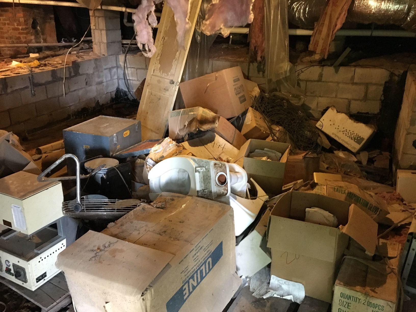 Crawl Space Clean Out in Charlotte, NC - Before Photo