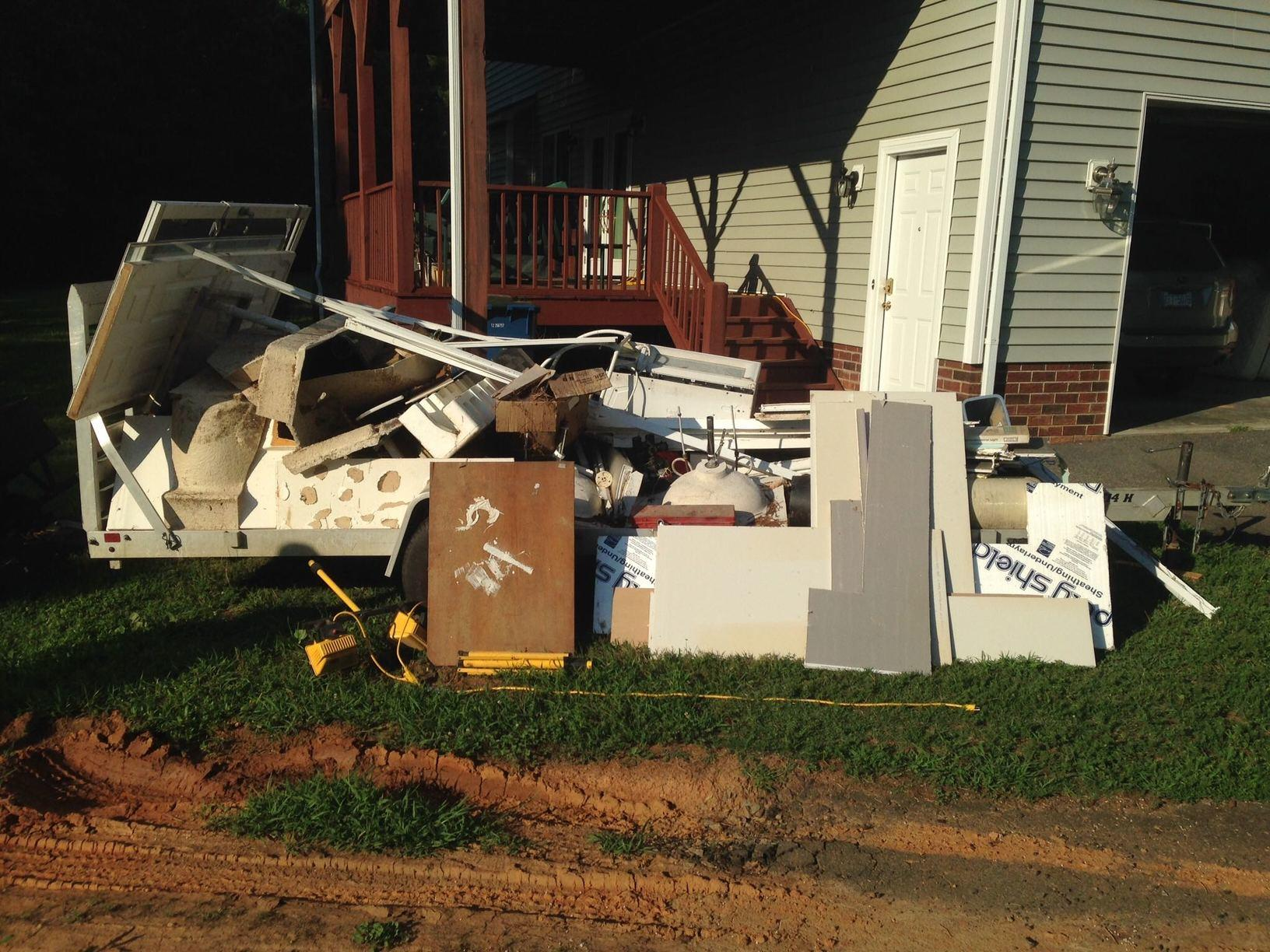 Overloaded Trailer in Concord, NC - Before Photo